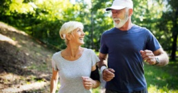 happy running couple after epidural steroid injection