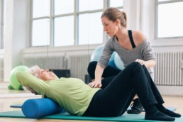 patient undergoing physical therapy for herniated disc